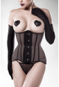 Glamour waist shaping corset with gloves and nipple patches