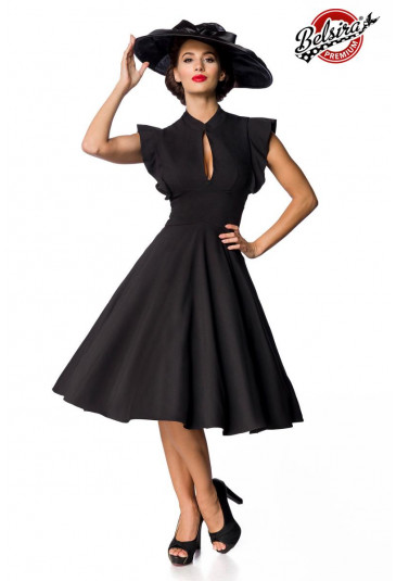Dámske retro čierne spoločenské šaty Belsira
