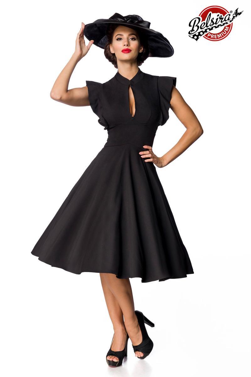 d0a436813327 Dámske retro čierne spoločenské šaty Belsira - SELECTAFASHION.COM