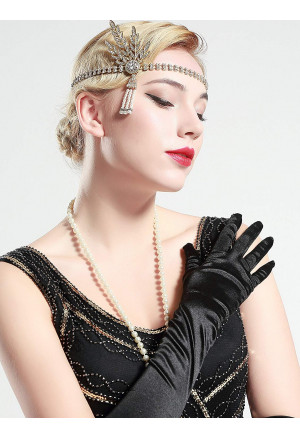Art deco rhinestones headband