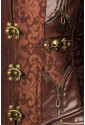 Combined brown pirate steampunk underbust corset