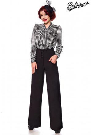 Retro čierne nohavice v štýle Marlene Dietrich