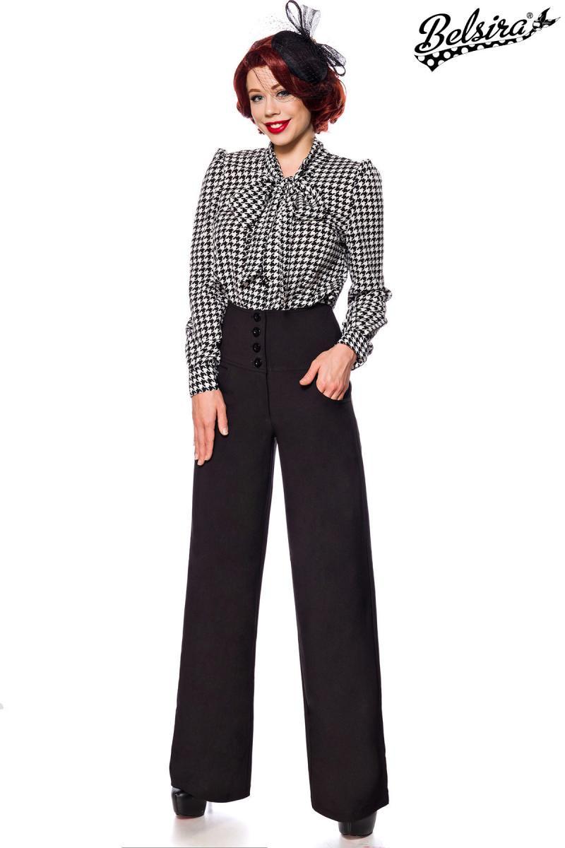 5b7a3c7cd494 Retro nohavice v štýle Marlene Dietrich - SELECTAFASHION.COM
