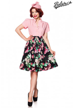 Colorful wide retro vintage skirt Belsira
