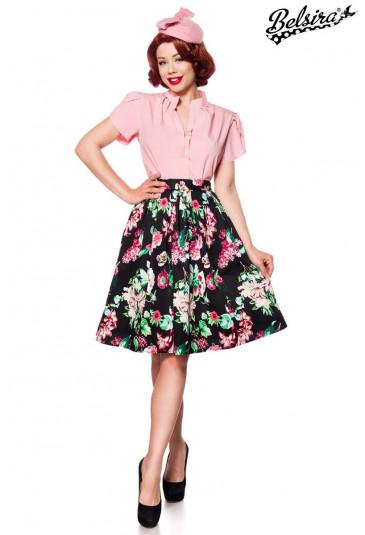 Colorful wide retro vintage skirt Belsira
