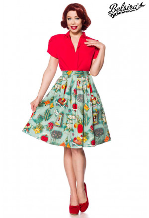 Stunning retro skirt Frida print