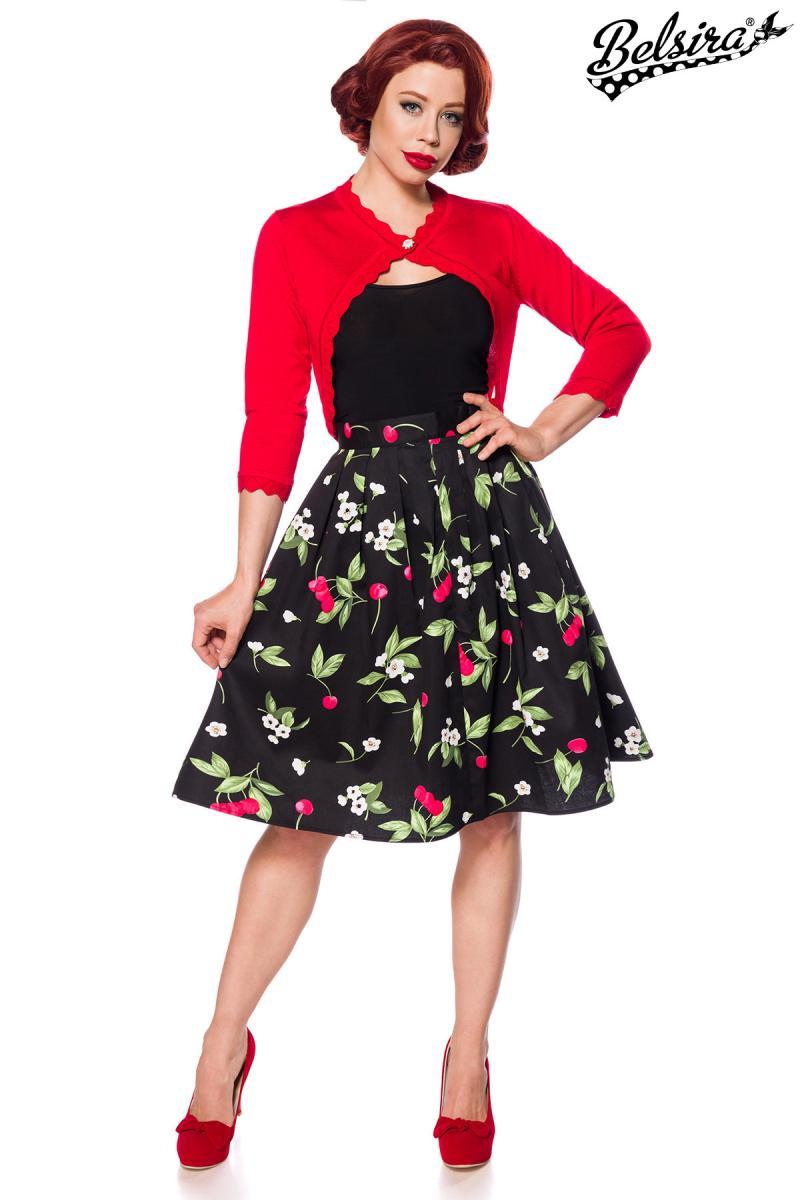 b7e224c0549c Úžasná retro sukňa Čerešne - SELECTAFASHION.COM