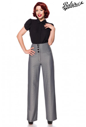 Flared business  retro pants a la  Marlene Dietrich