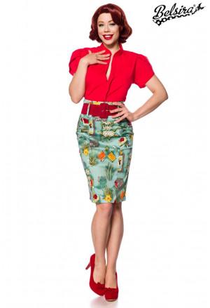 Fascinujúca úzka retro sukňa Mexico
