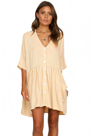 Beige Natural Beauty Dress