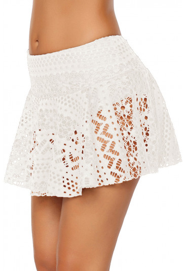 Crochet Lace Skirted Bikini Bottom