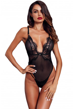 Lingerie Triangular Lace Bodysuit