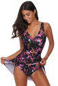 Multicolor Flower Print Swimdress