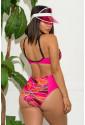Abstract Chains Print High Waist Bikini