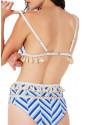 Tropical Print Tassel High Waist Bikini