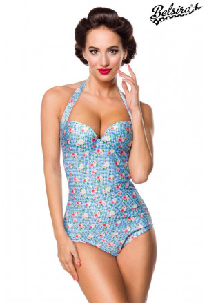Vintage push up padded one-piece Belsira swimsuit