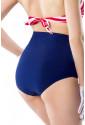 Vintage retro marine high waist swimwear panty