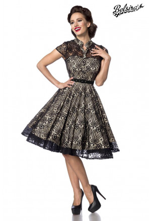 Sweet gentle lady dress in vintage style