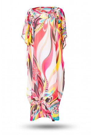 Colorful summer kaftan maxi dress