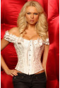 Steel boned embroidered corset with shoulder straps