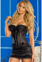 Black corset with skirt 068