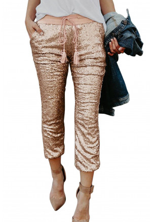 Sequined Tassel Trousers