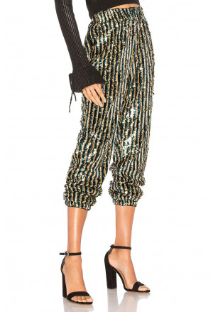 Chic Striped Sequin Pant