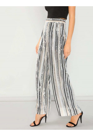 Sequined Evening Party Club Pants Trousers