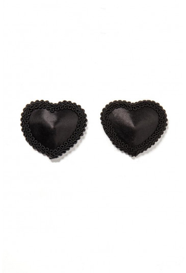 Black heart nipple patches covers