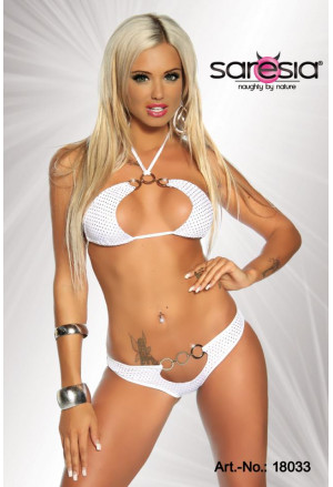Beautiful white-silver gogo bikini