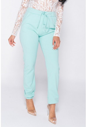 Mint High Waisted Casual Joggers