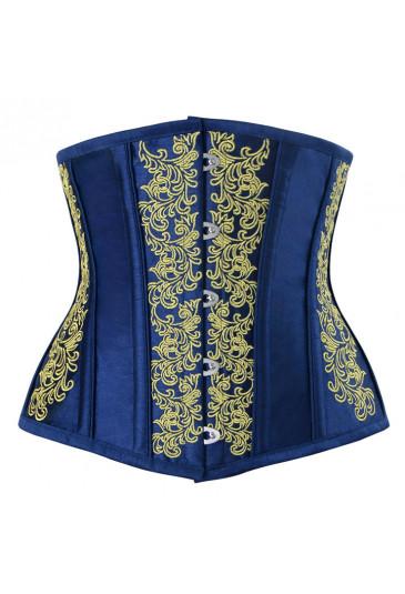 Vintage royal brocade corset under breast