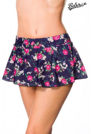 Ruffle Swim Skirt bottom wih flower pattern