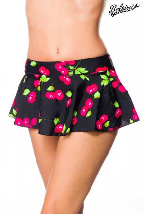 Ruffle Swim Skirt bottom wih cherry pattern