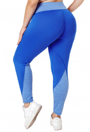 Heathered Splice Plus Size Yoga Pants