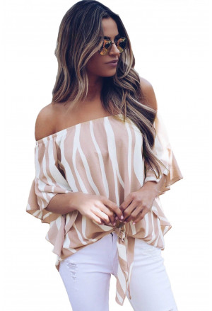 Summer blouse spanish pattern with vertical stripes