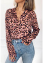 Fresh blouse with leopard pattern