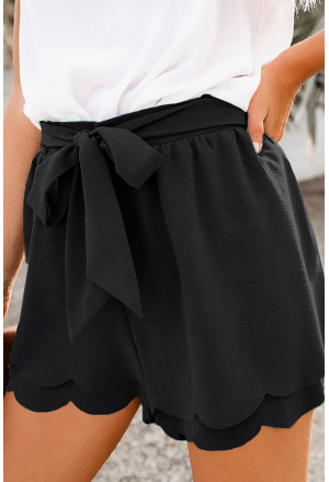 Summer elegant black shorts