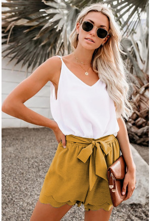Summer elegant yellow shorts