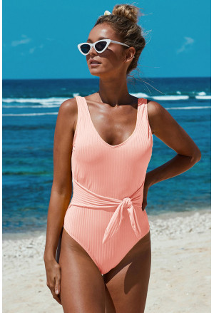 Elegant one-color One-piece Swimsuit