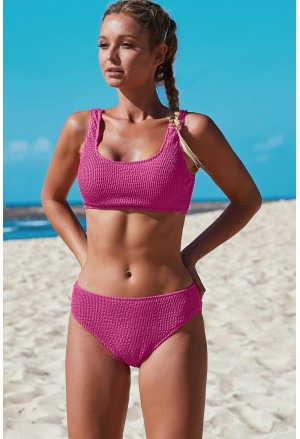 Sport bikinis with ribbed pattern