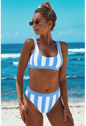 Sport bikinis with strips pattern
