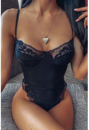 Black Lace Relish Bodysuit