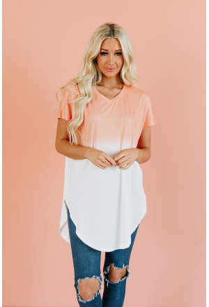 Ombre Color Block Casual Summer Shirt
