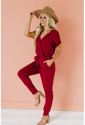 Stylish festival summer jumpsuit with long trousers