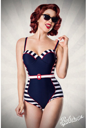 Retro swimsuit with Belt