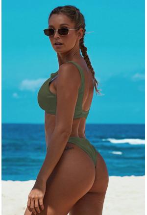 Knotted Two-piece Bikini Swimsuit