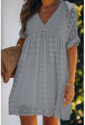 Pitch Pom Babydoll Tunic Dress