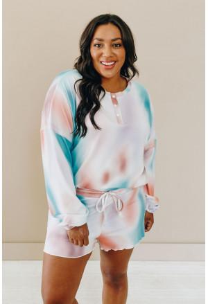 Tie Dye Knit Pajamas Set