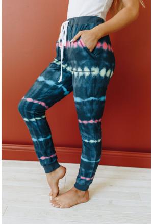 Tie Dye Drawstring Waist Jogging Pants